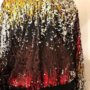 Ashley Stewart Jackets & Coats - Ashley Stewart Multi Colored Sequined Bomber